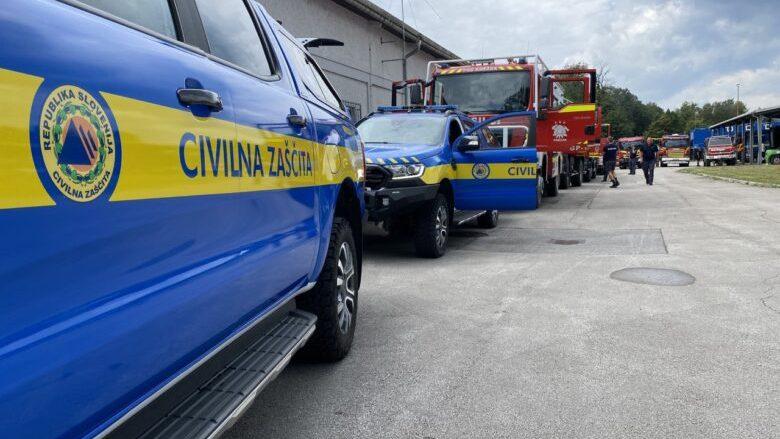 Sllovenia nis drejt Maqedonisë 16 automjete dhe 46 zjarrfikës