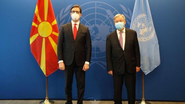 Pendarovski – Guterres: Zhbllokimi i integrimeve evropiane me interes për stabilitetin e rajonit