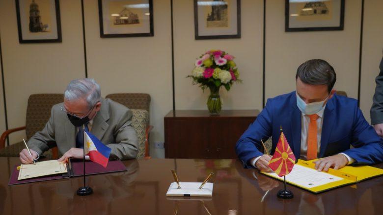 Maqedonia e Veriut vendos marrëdhënie diplomatike me Republikën e Filipineve