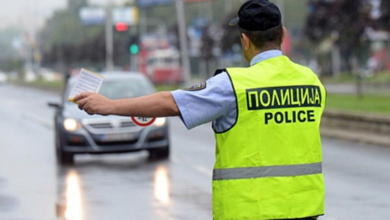Gjobiten 119 vozitës në Shkup, 59 për tejkalim të shpejtësisë